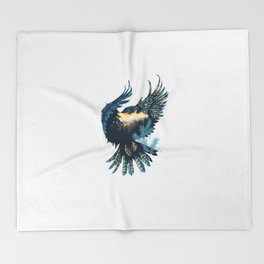 Forest Falcon Throw Blanket