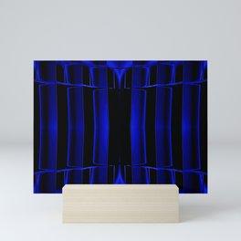 Playing in Blue Mini Art Print
