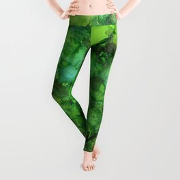 Through the Emerald Canopy Leggings