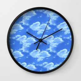 Blue Skies Photographic Pattern #2 Wall Clock