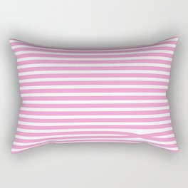 Stripes - Baby Pink Rectangular Pillow