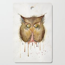Vaguely Disturbing Owl Cutting Board