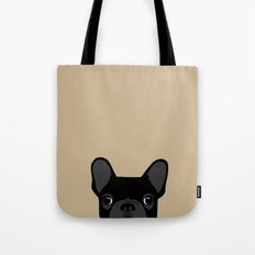 French Bulldog - Black on Tan Tote Bag