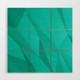 Geo Teal Wood Wall Art