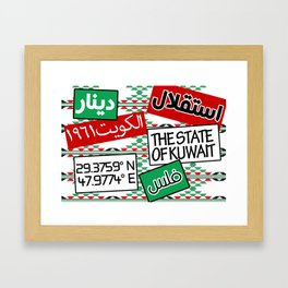 State of Kuwait Mix Framed Art Print