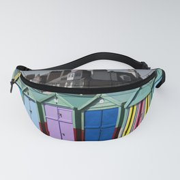 Colorful beach huts Fanny Pack