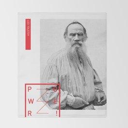Leo Tolstoy - POWER Throw Blanket