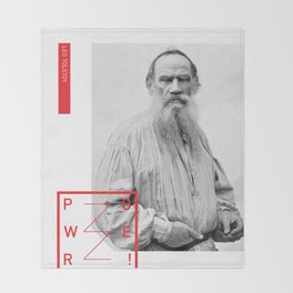 Leo Tolstoy - POWER Throw Blanket