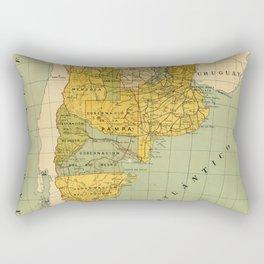Vintage Map of Argentina (1910) Rectangular Pillow