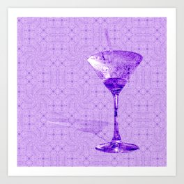 Cocktail for one Art Print