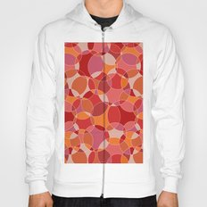Circles in red Hoody