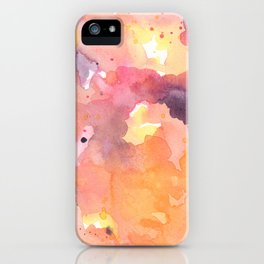 Abstract Watercolor Colorful Painting iPhone Case
