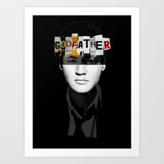 Godfather Mix 2 black Art Print