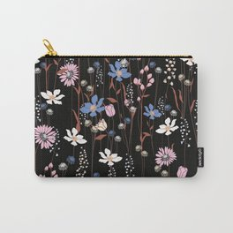 Darkly Beautiful Wildflower Floral Pattern Carry-All Pouch