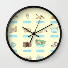 Some of the uses of eggs Wall Clock