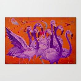 Purple Flamingo Canvas Print