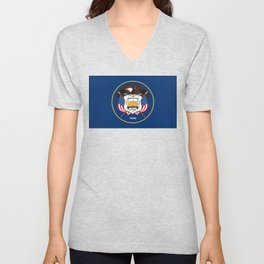 Utah State Flag, Authentic Version Unisex V-Neck