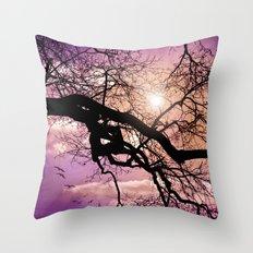 SILENT TREE Throw Pillow