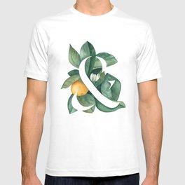 Orange Leaf Ampersand T-shirt