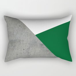 Concrete Festive Green White Rectangular Pillow