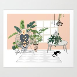 girl in the room Art Print