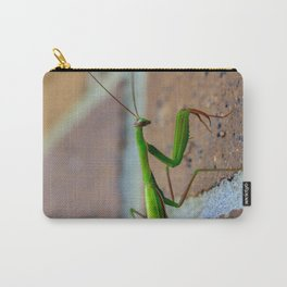 close up of preying mantis Carry-All Pouch