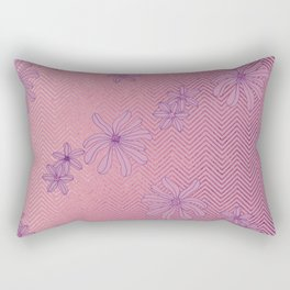 Pretty Pink & Rose Gold Floral Pattern Rectangular Pillow