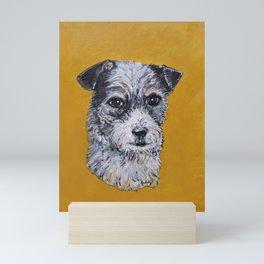 Terrier Mix Dog Portrait Mini Art Print