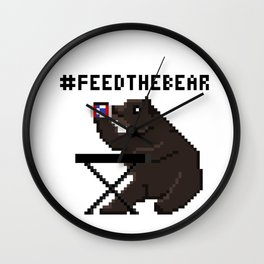 Feed The Bear Wall Clock