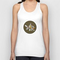 wes anderson Tank Tops featuring Goldfish Anderson by WhoGroovesOn