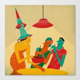 Tiki Date Canvas Print