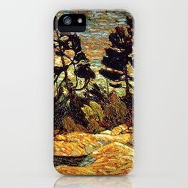 Tom Thomson - Summer Shore, Georgian Bay  - Canada, Canadian Oil Painting - Group of Seven iPhone Case