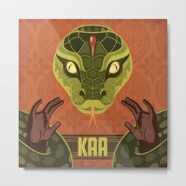 Kaa Metal Print