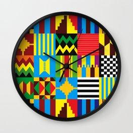 Tribal Patterns Wall Clock