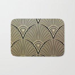 Golden Art Deco pattern Bath Mat
