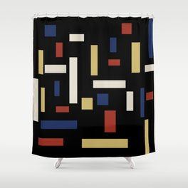 Abstract Theo van Doesburg Composition VII The Three Graces Shower Curtain
