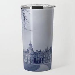 Balmoral Castle, Royal Deeside, Scotland blue tint Travel Mug