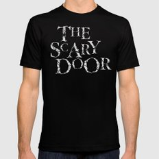 The Scary Door  Black Mens Fitted Tee LARGE