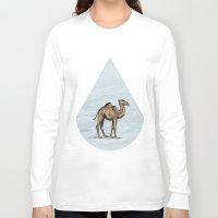 salt water Long Sleeve T-shirts featuring Camel - salt water by Agustin Flowalistik