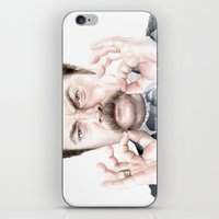 swanson iPhone & iPod Skins featuring Swanson Mustache by Olechka