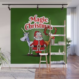 Magic Christmas with a unicorn Wall Mural