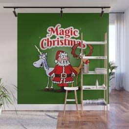 Magic Christmas with a unicorn Wall Mural