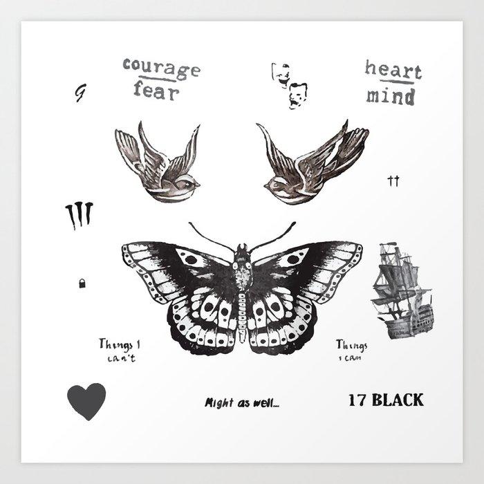 Tattoo à la Harry Kunstdrucke