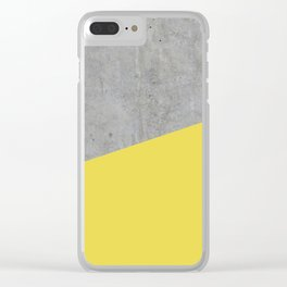 Concrete and Meadowlark Color Clear iPhone Case