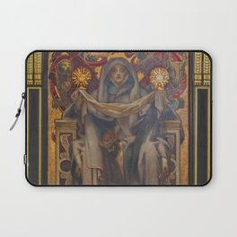 Classical Masterpiece Church Mural by John Singer Sargent Laptop Sleeve