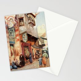 Tyrwhitt, Walter (1859-1932) - Cairo, Jerusalem, and Damascus 1912, A street scene in Cairo Stationery Cards