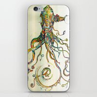 squid iPhone & iPod Skins featuring The Impossible Specimen by Will Santino