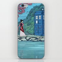 hallion iPhone & iPod Skins featuring Cannot Hide Who I am Inside by Karen Hallion Illustrations
