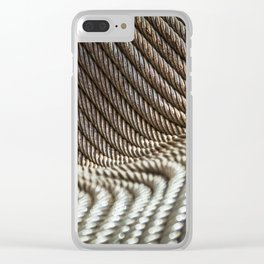 Coiled Lines Clear iPhone Case