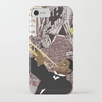 louis armstrong iPhone & iPod Cases featuring Louis Armstrong by Cwilwol